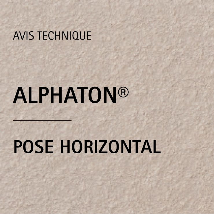 AVIS TECHNIQUE ALPHATON® POSE HORIZONTAL