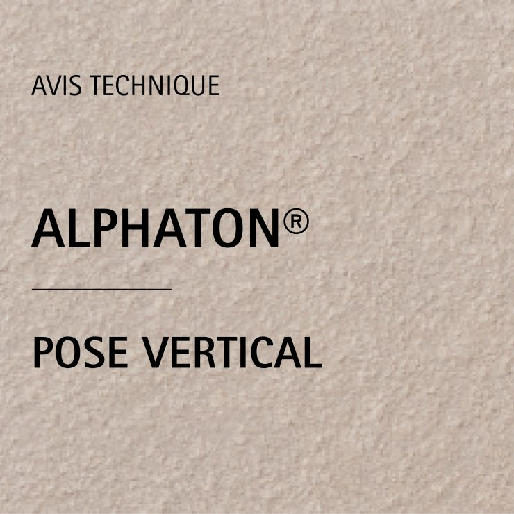 AVIS TECHNIQUE ALPHATON® POSE VERTICAL