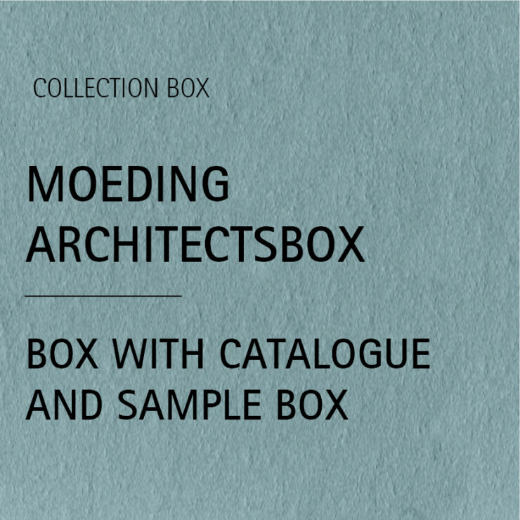 MOEDING Architectsbox inlcuding catalog and sample box