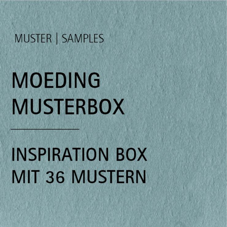 MOEDING Musterbox INKL. 36 verschiedenen Farbmustern